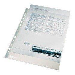 Esselte pochettes perforées premium, a4, pp, grainé, 0,11 mm