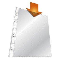 Durable pochette perforée, a4, pp, transparent grainé