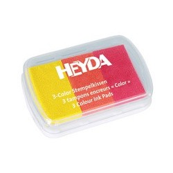 """Heyda tampons encreurs """"3-color"""", rouge / vert foncé / or"""