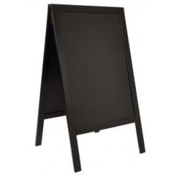 Securit panneau trottoir woody, avec tableau noir, noir
