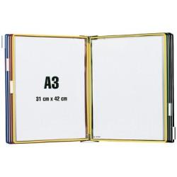 Tarifold kit de présentation mural, métal, a3, équipé