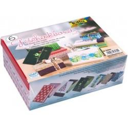 """Folia kit de boîtes-cadeau """"noel"""", imprimé, kit de 6"""