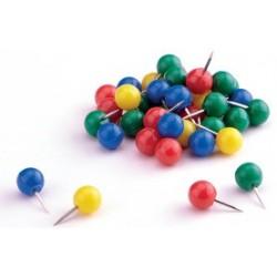 Magnetoplan punaises, vert, contenu: 100 pièces