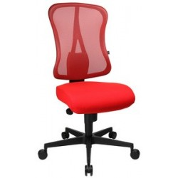 "Topstar fauteuil de bureau ""art comfort net"", rouge / rouge"