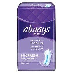 Always maxi serviette profresh long 12