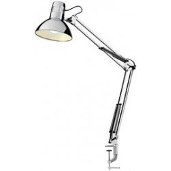 Hansa lampe d'architecte led manhanttan, avec pince, chrome