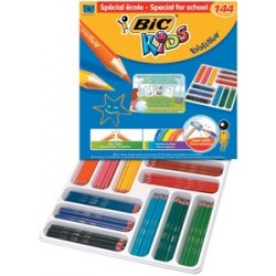 Bic kids crayons de couleur evolution ecolutions, paquet de