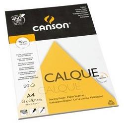Canson bloc papier calque, a3, 70 g/m2, 50 feuilles