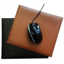 Alassio tapis de souris, en cuir, couleur: noir