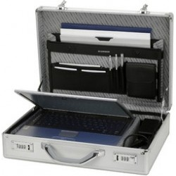 "Alumaxx laptop-attaché-case ""kronos"", en aluminium, argent"
