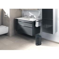 Durable poubelle à pédale métal, rond, 12 litres, anthracite