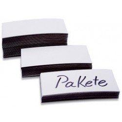 Magnetoplan magnet-etiketten, weiß, 30 x 100 x 0,6 mm