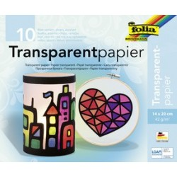 Folia cahier de papier transparent, 200 x 300 mm,10 feuilles