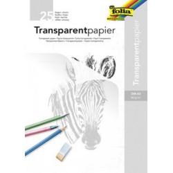 Folia bloc de papier transparent, a3, 80 g/m2, 25 feuilles