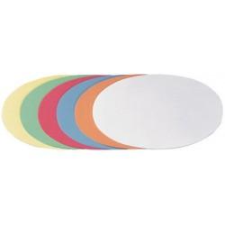 Franken carte de présentation, ovale, 110 x 190 mm, blanc
