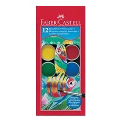 Faber-castell palette de peinture aquarellable, 12 couleurs