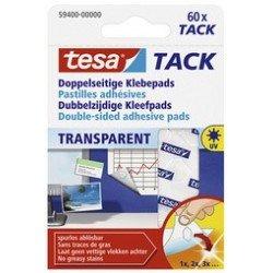 Tesa tack pastilles adhésives, big pack, transparent (LOT DE 15)