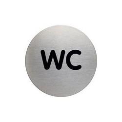 """Durable pictogramme """"douche"""", diamètre: 83 mm, argent"""