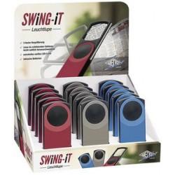 Wedo loupe rectangulaire swing-it avec led, présentoir de 15 (LOT DE 15)