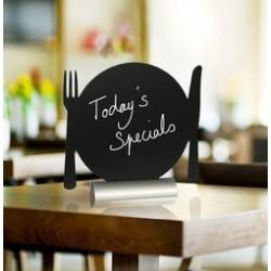 "Securit ardoise de table silhouette ""assiette"""