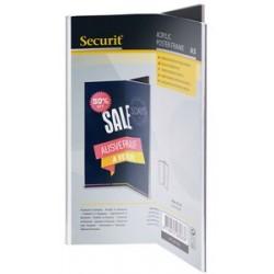 Securit ardoise de table acrylic, a5 portrait, trilatéral