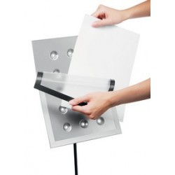Durable support d'informations duraview stand, a4, argent
