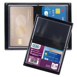 Elba etui de poche, pvc, simple, format: 85 x 55 mm (LOT DE 10)
