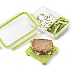 Emsa boîte à brunch clip & go, 1,20 l, transparent / vert