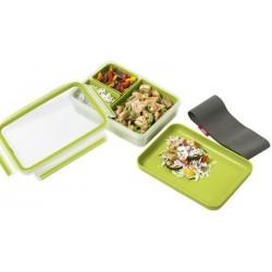 Emsa lunchbox clip & go, 1,20 litres, transparent / vert