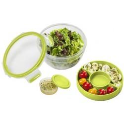 Emsa boîte à salade clip & go, 1,0 l, transparent / vert