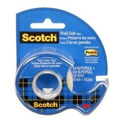 "Scotch ruban adhésif ""wall-safe"", sur dévidoir,19mm x 16,5 m"