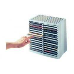 Fellowes rack cd/dvd spring, noir, pour 30 cd en boîte jewel
