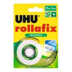 Uhu ruban adhésif rollafix avec dévidoir, invisible