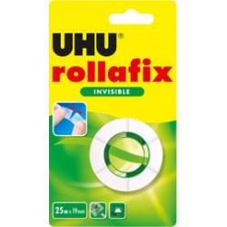 Uhu ruban adhésif rollafix 19 mm x 25 m, invisible