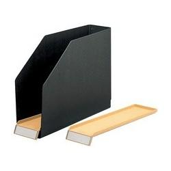 Elba boîtes de classement, carton dur, noir avec (LOT DE 14)