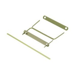 Elba clip archive en métal, laquée en couleur laiton