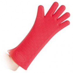 "Hygostar gants en silicone ""heatblocker"", rouge"