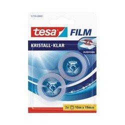 Tesa film ruban adhésif, pack de 8, 19 mm x 10m, transparent