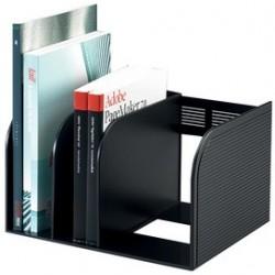 Durable porte-revues optimo eco, 3 compartiments, anthracite
