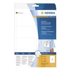 Herma plaques nominatives à insérer special, 75 x 40mm,blanc