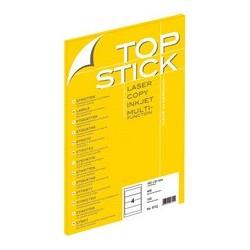 Top stick etiquettes pour dos de classeur, 192 x 61 mm,