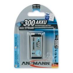 Ansmann pile rechargeable nimh maxe, bloc e 9v, 300 mah