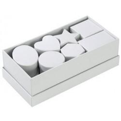 Folia boîtes en carton, 15 pièces, blanc