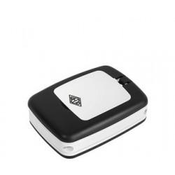 Wedo loupe de table pocket avec lumière led, blanc/noir