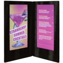 Securit protège-menus led, (l)190 x (h)350 mm, noir
