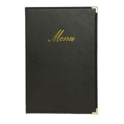 Securit protège-menus classic, a4, noir