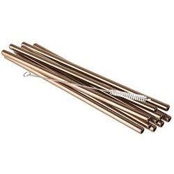 Aps paille en acier inoxydable, longueur: 215 mm, métallique