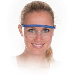 Hygostar lunettes de protection bleu, verres transparents