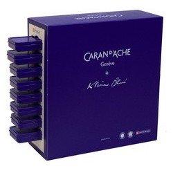 Caran d'ache stylo à bille 849 klein blue, en présentoir