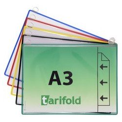 Tarifold poche à anse, format a3 horizontal, assorti
